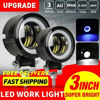 2X 3inch 40W Spot Round LED Work Lights Driving Pods Offroad Motorcycle ATV SUV