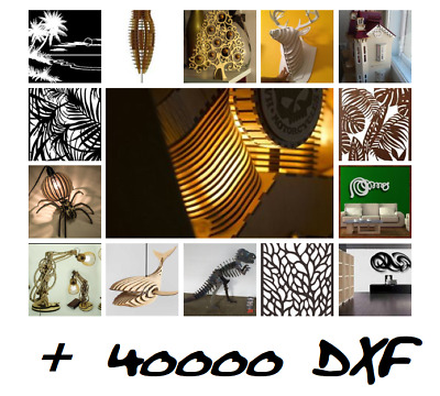 LOT mega  pack +40000 DXF FILE VECTOR panel plasma  CUT laser CNC ROUTER CDR DWG