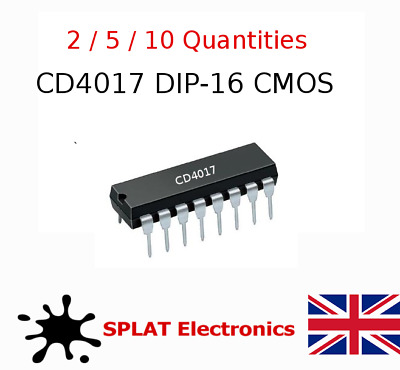 CD4017BE Decade Counter / Divider DIP16  - Multiple Quanties - UK Seller