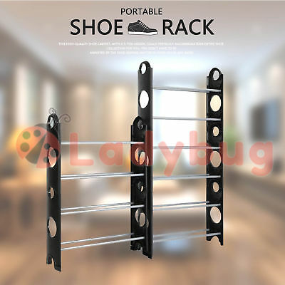 10 Tiers Shoe Rack 30 Pairs Stackable Storage Holder Organiser  for Shoes