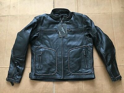 """RK SPORTS Mens Leather Motorcycle Motorbike Jacket UK 44"""" to 46"""" chest   J62"""