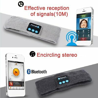 Knitted Wireless Bluetooth Music Headband Stereo Sports Headband With Mic MG