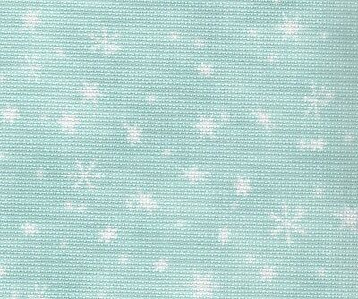 Fabric Flair - Snowfall 16 count Aida - 45 x 50cm piece - Ideal for cross stitch