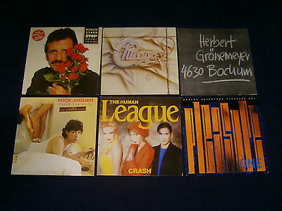 6 mal RINGO STARR (BEATLES) CHICAGO GRÖNEMEYER JAGGER LEAGUE HEAVEN 17 Vinyl LP