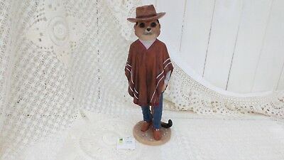 Country Artists Magnificent Meerkats Cowboy Figurine Boxed Ca04493