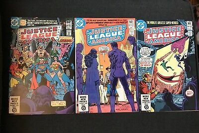 Justice League of America 197,198,199 lot of 3 George Perez, Don Heck VG/FN 1982