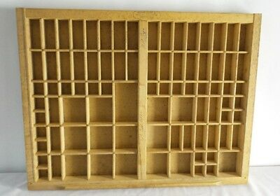 Type Set Drawer Tray Shadow Box Wooden 17 x 22 Thompson Printers Cabinet IT2