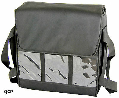"5 x PIZZA DELIVERY BAG- FULLY INSULATED - LARGE- L18.5"" x W18.5"" x H 9"""