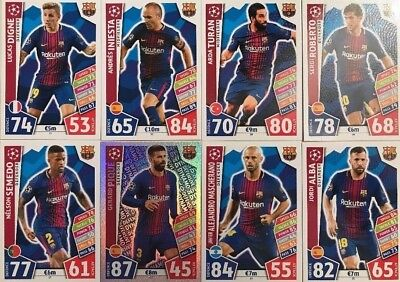 MATCH ATTAX CHAMPIONS LEAGUE 2017/18 BARCELONA CARDS Topps 2017 2018