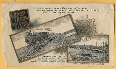 Small Envelope... An Interesting GRAND TRUNK RAILWAY Paper Collectible