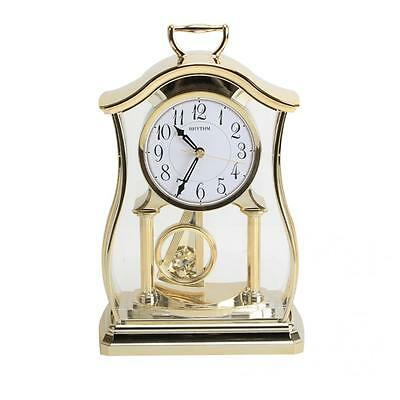 Rhythm Mantel Clock with Pendulum & Acrylic Decoration £69.95