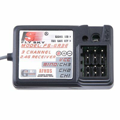 New FS-GT3B 2.4G 3CH Transmitter Receiver With Fail-Safe For RC car boatUO