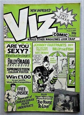 Viz # 13 comic August 1985 with Underpants Free Gift magazine issue (18+ only)