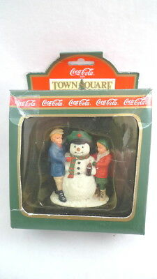 Coca Cola TOWN SQUARE COLLECTION Thirsty The Snowman 1992 Christmas Decor
