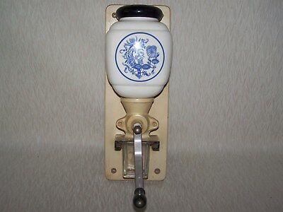 Vintage Blue And White Delft Coffee Mill Coffee Grinder