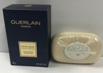Guerlain Paris Shalimar Perfumed Soap 3.5 oz/ 100 g New In Sealed Box
