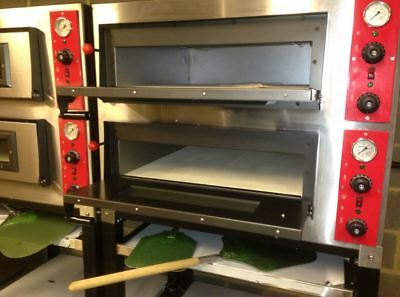 Electric Pizza Oven Double 2 Deck Stone Baked