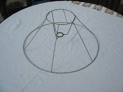 """REDUCED!! VTG WIRE FRAME FOR LAMP SHADE MAKING, RESTORATION OR REPAIR 10""""Hx18""""W"""