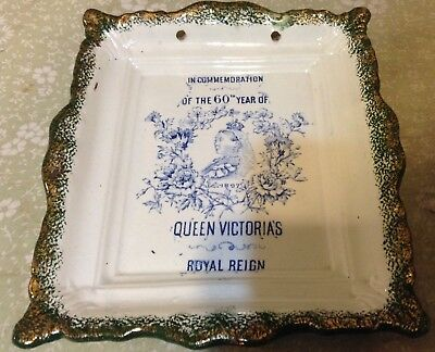 Wall Plaque Celebrating Queen Victoria's 60Th Year Of Reign