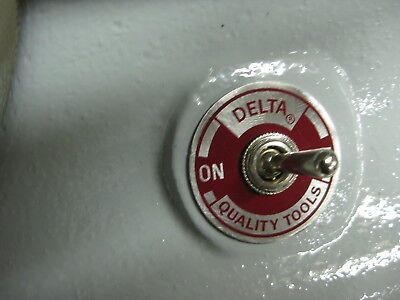 OFF-ON switch plate - for behind the toggle on a Delta Triple Duty grinder