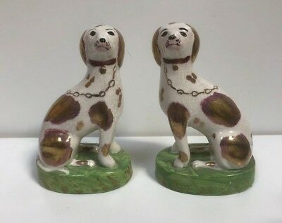 A Pair Of Staffordshire Dogs Pottery