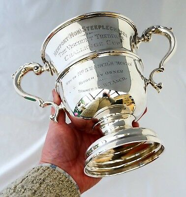 Silver Welsh Horse Racing Viscount Tredegar Trophy 1910. Newport Monmouthshire.