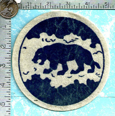 USAF patch (circa 1950's-60's ?) - 46th Fighter Squadron (blue on white felt)