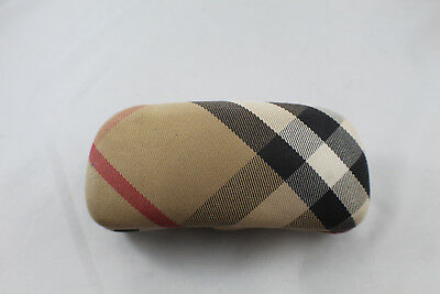 Burberry Eye Glass Case Brown Red White and Black Plaid
