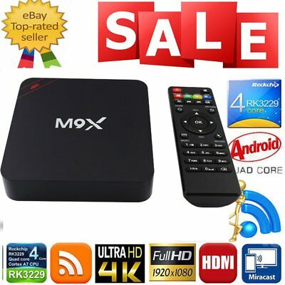 M9X Android 7.1 Tv Box Streamer Amlogic S905X Octa Core 1GB/8GB Wi-Fi LOT LQ