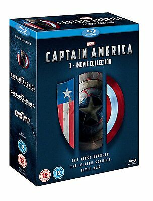 Captain America 3-Movie Collection Trilogy 1-3 (Blu-ray, 3 Discs) *NEW/SEALED*