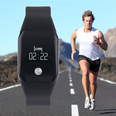 A88 Smart Intelligenct Heart Rate Fitness Bracelet Wristband LCD Scre NQ
