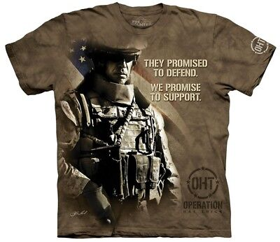 The Mountain Unisex Modern Soldier Military Support T Shirt
