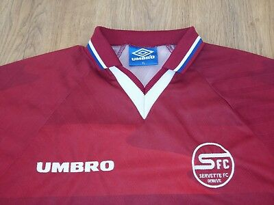 Servette Switzerland 1997 - 1998 rare vintage home shirt size XL