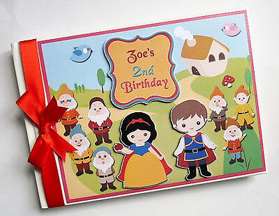 Snow White First/1St Birthday/baby Shower Guest Book - Any Design
