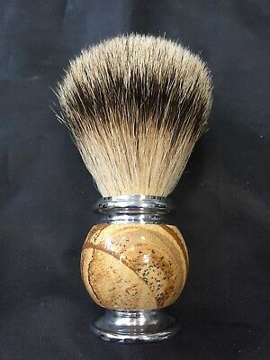 Bellissima Spazzola Barba In Vero Tasso,shaving Brush 100% Real Badger Hair