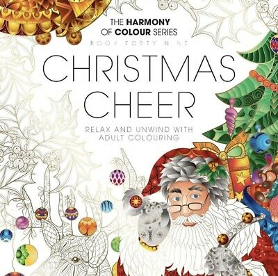 Harmony of Colour: Book 49  CHRISTMAS CHEER Adult Colouring 36 Designs -NEW