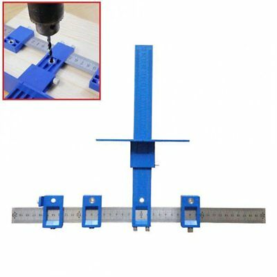 Adjustable Punch Locator Drill Guide Sleeve Cabinet Hardware Jig Drawer Tool&#