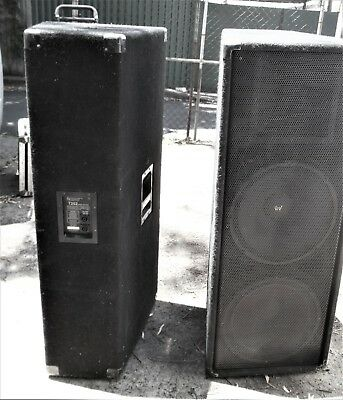 """Electrovoice T252 dual 15"""" + HF speakers (pair)"""