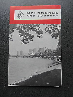 Old Racv Road Map Melbourne And Suburbs Victoria Australia