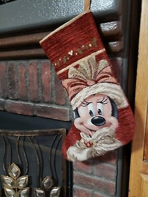 Disney Parks Minnie Mouse Red Victorian Christmas Stockings