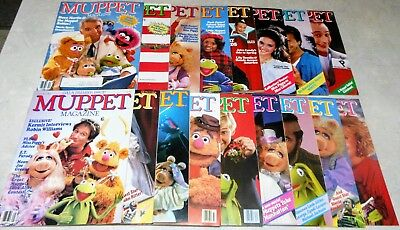 LOT OF 17 - Muppet Magazine: complete from Premier Issue to Winter 1987