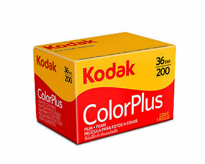 10x Kodak ColorPlus 200 Film (36 exposures). (Expiry 07/20) 10 Rolls of film.
