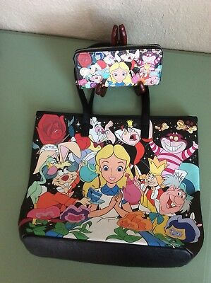 Beautiful and Fun Alice In Wonderland Loungefly Purse And Wallet NWOT