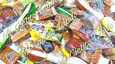 55 PC MEXICAN Candy Mix Dulces Mexicanos Chamoy Pulparindo Cucharita  Caramelo