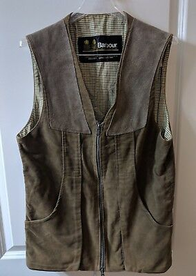 Barbour Men's Small Vest Zip Olive Vintage Made in England