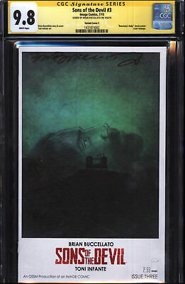 Sons Of The Devil #3 Movie Poster Variant Signed Brian Buccellato CGC SS 9.8