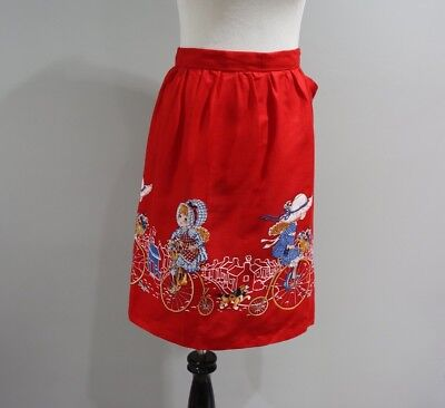 Vintage Apron Petticoats And Pantiloons Womens 70s Girls On Bikes  S