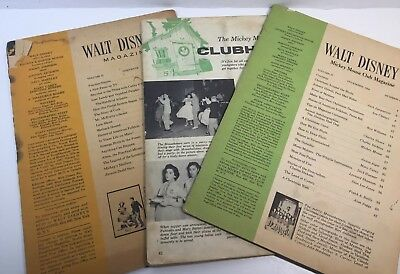 "Vintage ""walt Disney's Mickey Mouse Club Magazine"", 2-1956, 1-1957"