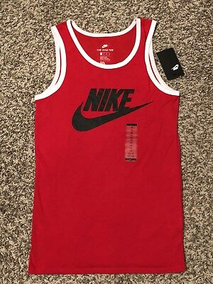 2713b43ceceb8d Nike Mens Red Ace Logo Tank Top Sz XS Red And Black New Active Sportswear