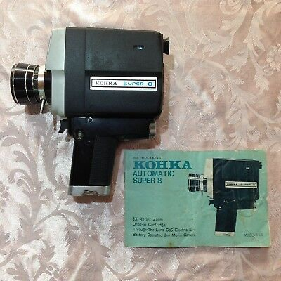 Vintage Collectable Kohka Automatic Super 8 Movie Camera Made in Japan Model 663